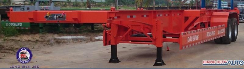 Sơ mi rơ mooc xương 40 - 45 Feet 2 trục chở container 2021