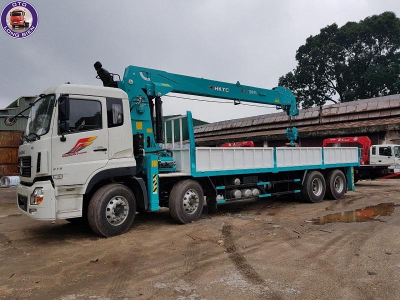 Xe Dongfeng gắn cẩu tự hành 12 tấn HKTC