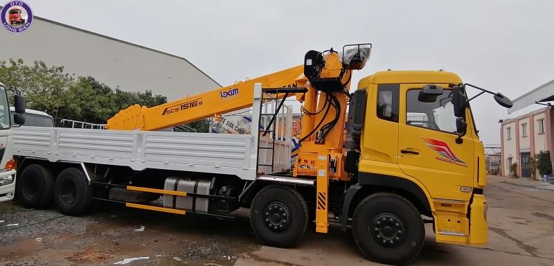 Xe tải gắn cẩu tự hành 15 tấn Dongfeng mới 2020