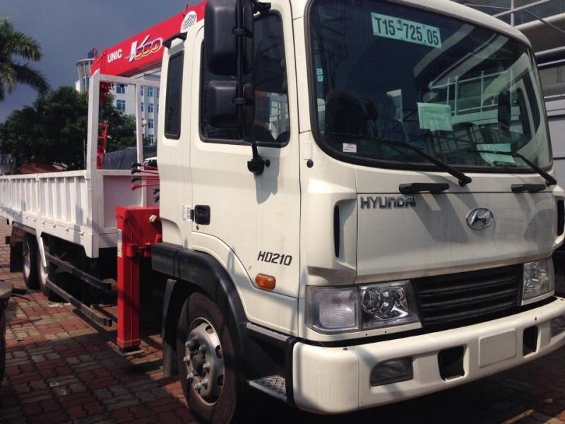 Xe tải gắn cẩu Unic 5 tấn Hyundai HD210