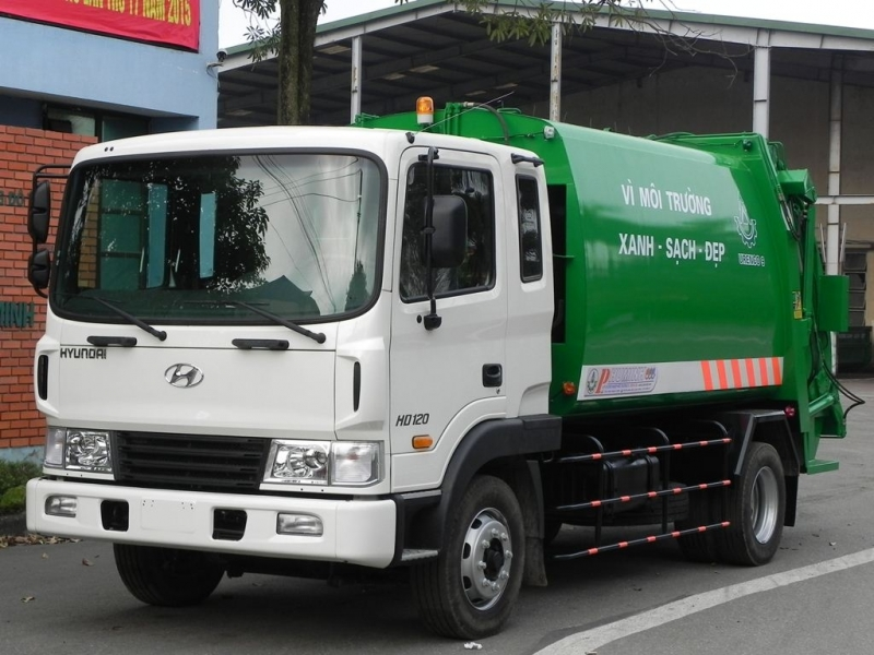Xe ép rác Hyundai 8m3-9m3 2020