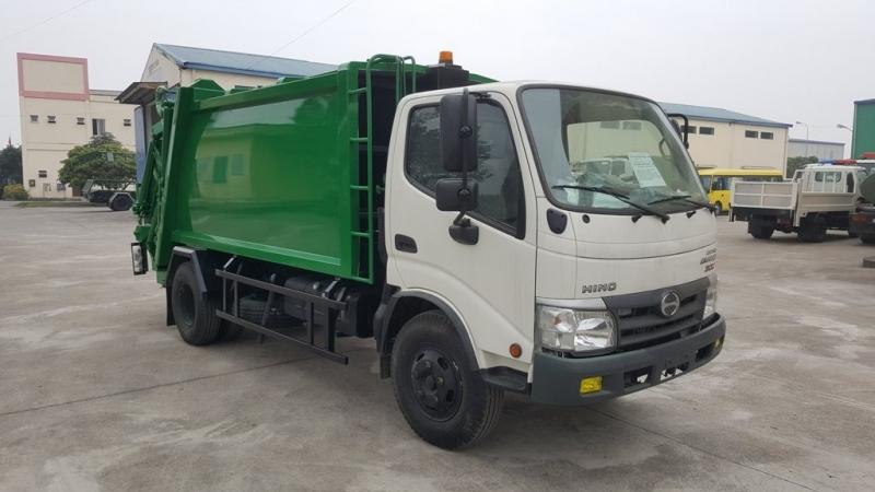 Xe ép rác Hino 6m3 (6 khối)