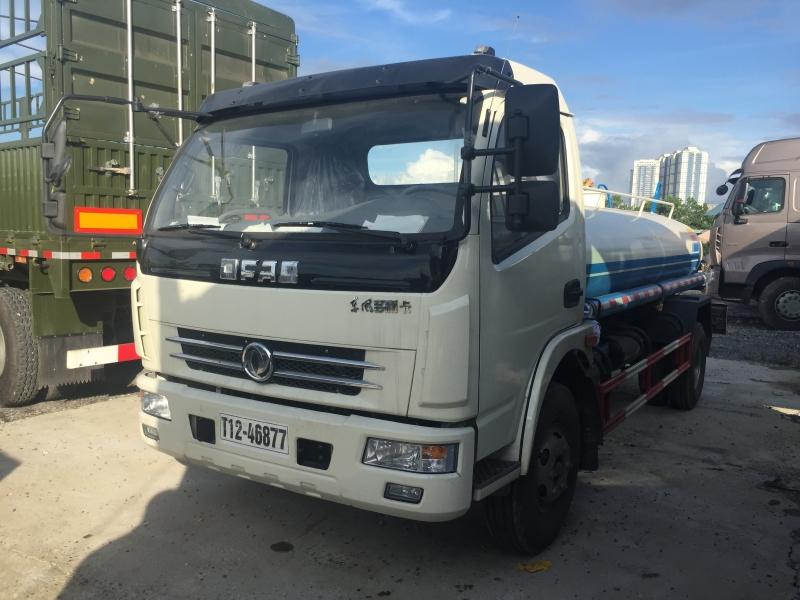 Xe phun nước rửa đường, tưới cây Dongfeng 5m3 (5 khối)