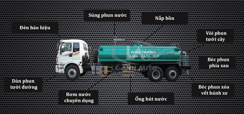 Xe phun nước rửa đường Hyundai 12m3 - 13 m3