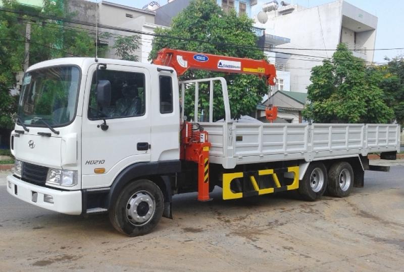 Xe tải gắn cẩu tự hành 3 tấn Mới nhất 2021