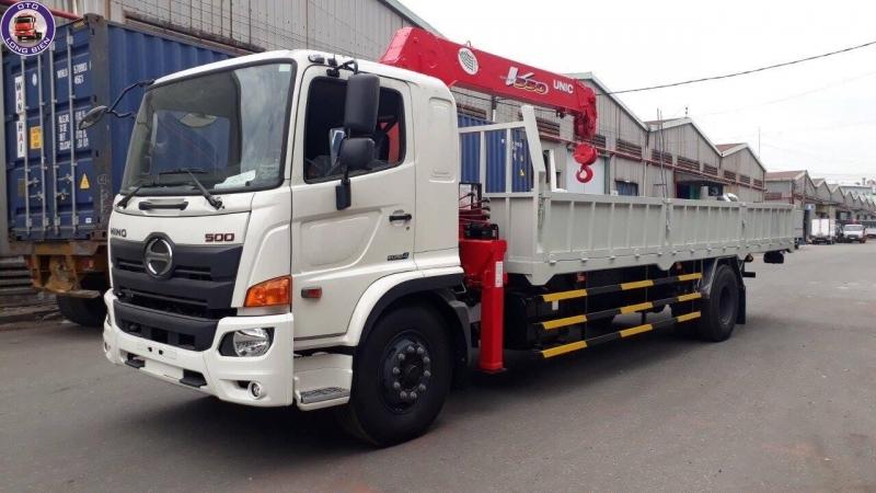 Xe tải gắn cẩu Unic 5 tấn Hino FG
