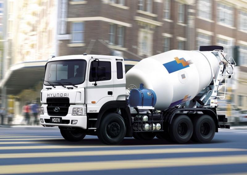 Xe bồn trộn bê tông Hyundai 7m3