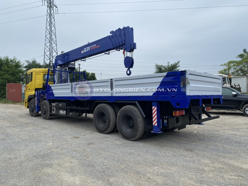 Xe tải gắn cẩu tự hành 15 tấn mới nhất 2021