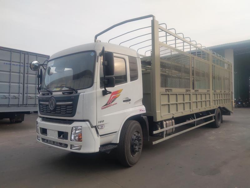 Giá bán xe tải thùng Dongfeng B180 chở ô tô thùng dài 9m7 mới 2021